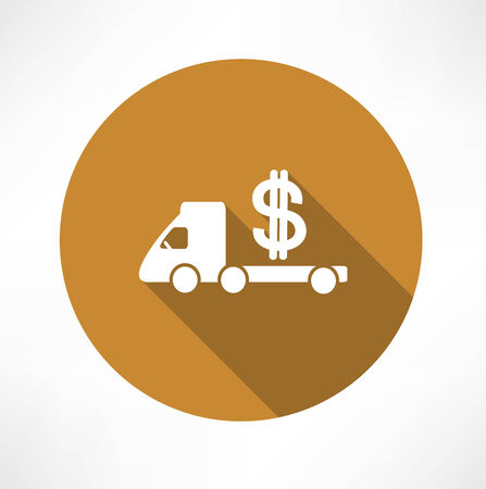 wad: car truck with money icon