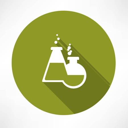 effervescent: chemical flasks icon