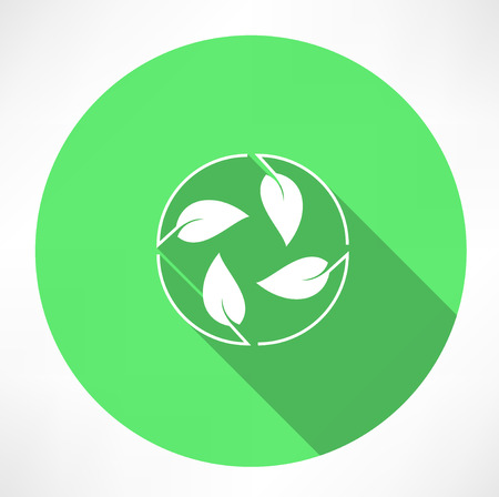 environmental awareness: cycle leaves icon