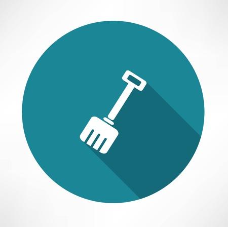 Snow shovel vector icon