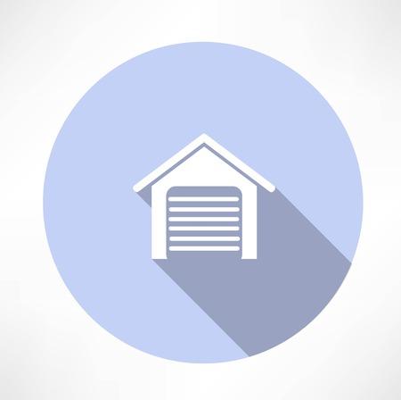 garage door: Garage icon Illustration