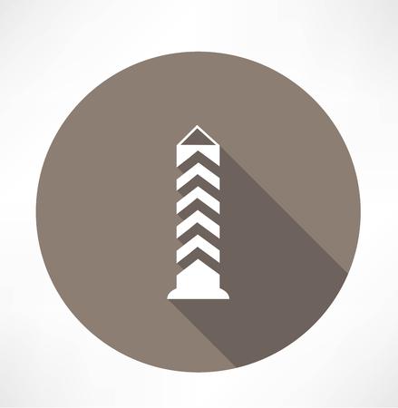 boundary: boundary post, pillar icon Illustration