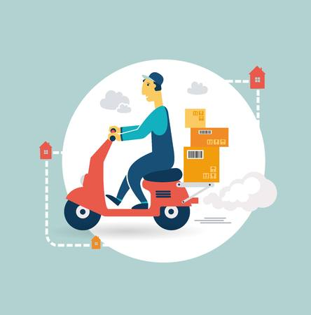 portage: delivery scooter icon