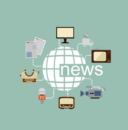 news icon: journalist illustration