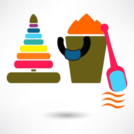 Vector toy icons. Baby toys Vector