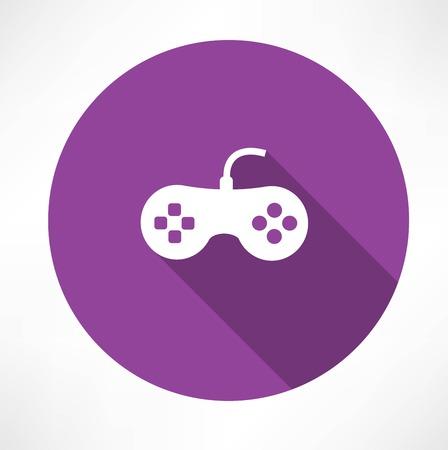 videogame: joystick icon Illustration