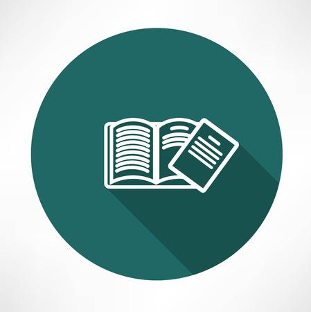 Open boek pictogram Stock Illustratie