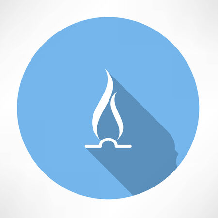 gas flame: Gas Fiamma Icona
