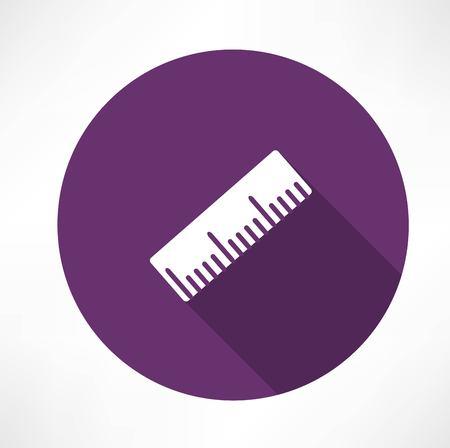 draftsmanship: Ruler vector icon