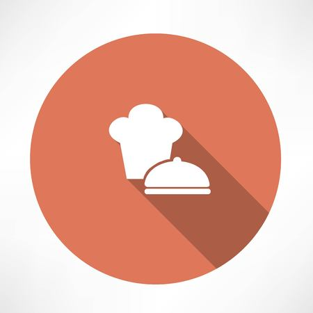 Chef hat and saucepan icon