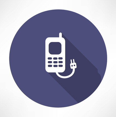 charging the phone concept Vector
