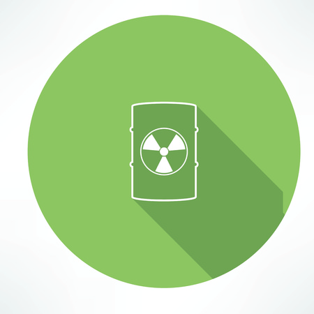 toxic barrels: barrel with hazardous material icon