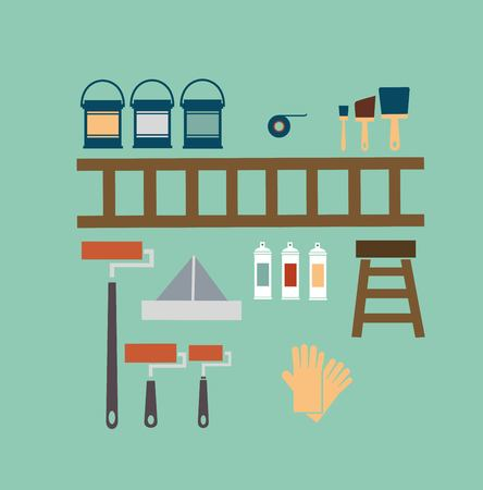 painter and decorator: Painter illustration Illustration