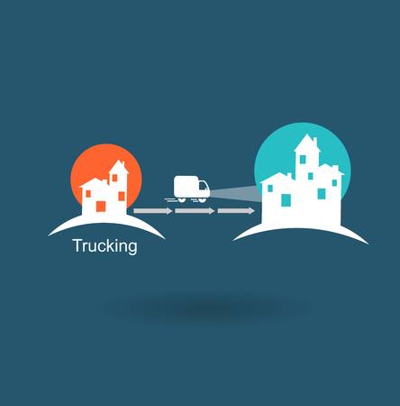 trucking from one city to another icon