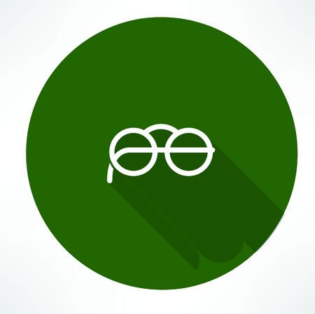 round glasses: Gafas redondas Icono Vectores