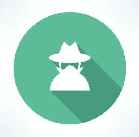 spy agent icon Vector