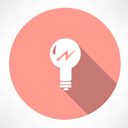 lamp with lightning icon Stock Vector - 32470852