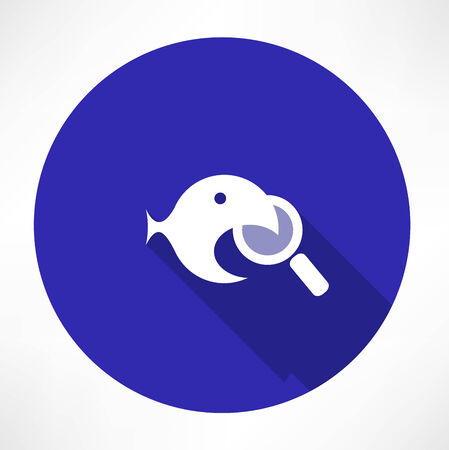 Magnifying Glass with a fish icon