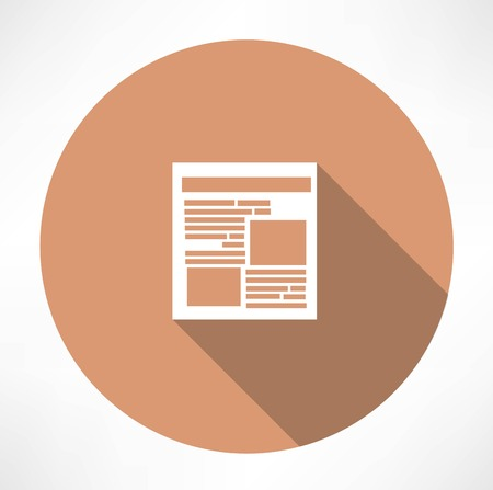 article icon: Newspaper Icon Illustration