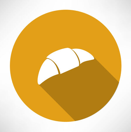 sweet bun: croissant icon Illustration