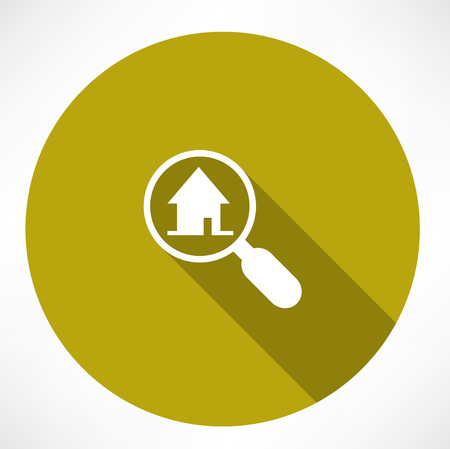 home icon: Search house icon