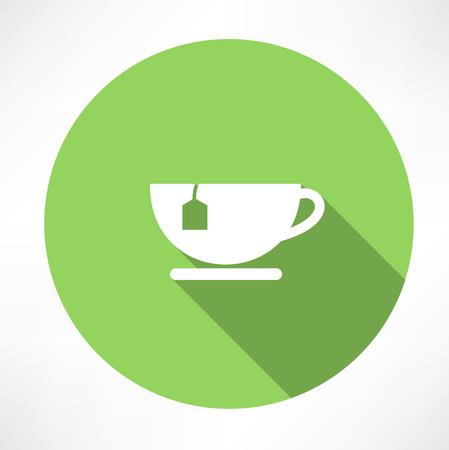 Cup of tea with tea bag