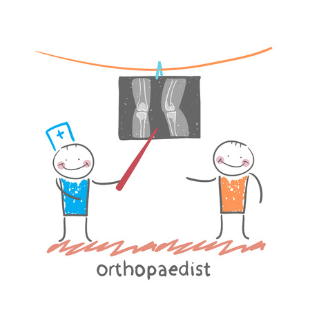 orthopaedist patient shows an X-ray Illustration