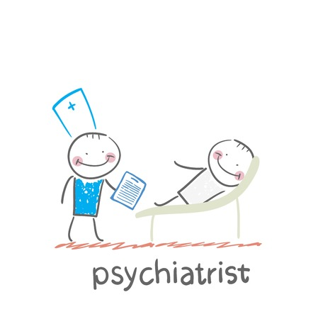 Psychiatrist says to the patient, who is lying on the couch