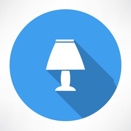nachtlampje pictogram Stock Illustratie