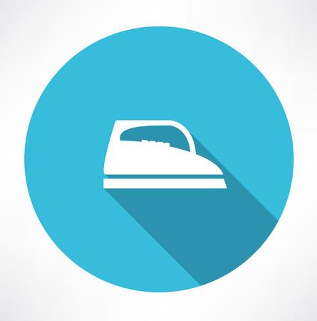 plancha de vapor: Icono de vapor de hierro