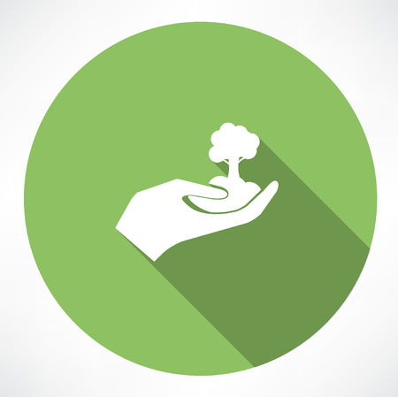 green thumb: Growth concept vector icon Illustration