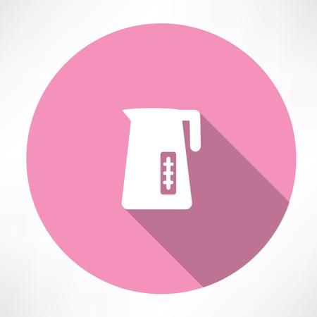 electric kettle icon Ilustração