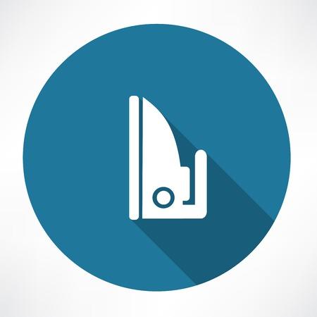 plancha de vapor: Icono de hierro de vapor