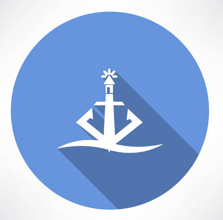 anchor lighthouse icon