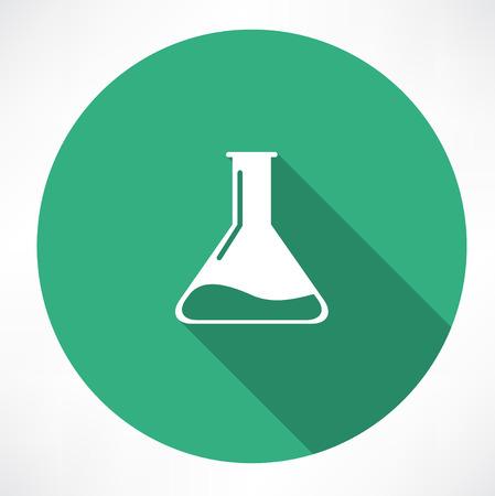 seething: Chemical Icon Illustration