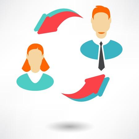 icône de groupe de l'utilisateur, vecteur Vecteurs