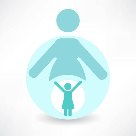 parental: set of icons - parental love
