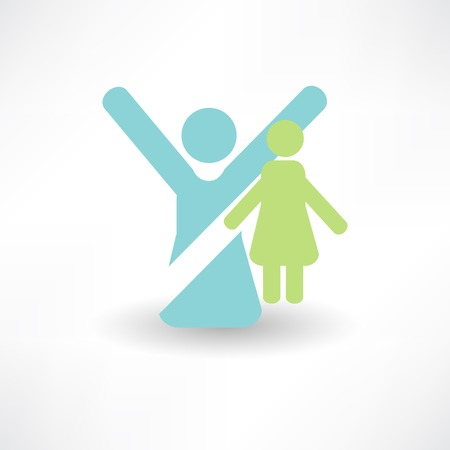 parental love: set of icons - parental love