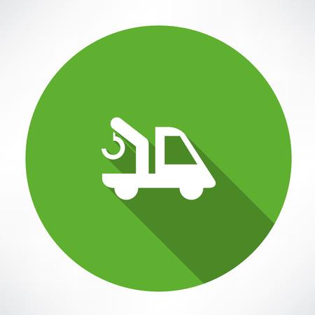 camioneta pick up: coche con un icono de la grúa