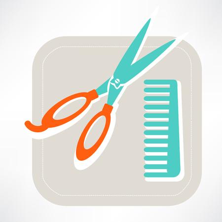 Hairdresser icon Vector