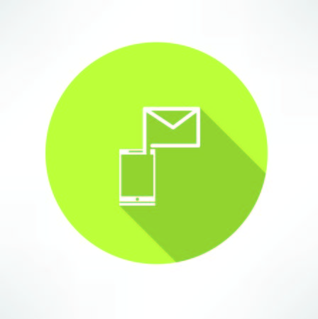 email icon: Smartphone e-mail icon