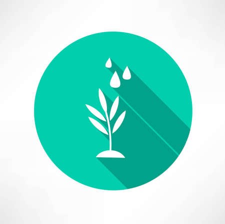 growing plant: stem with water icon
