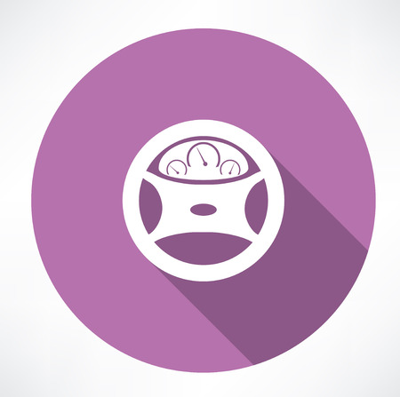 dashboard: car dashboard square icon