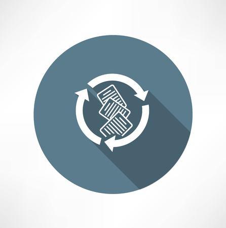 Documents avec icône du cycle Banque d'images - 32471564