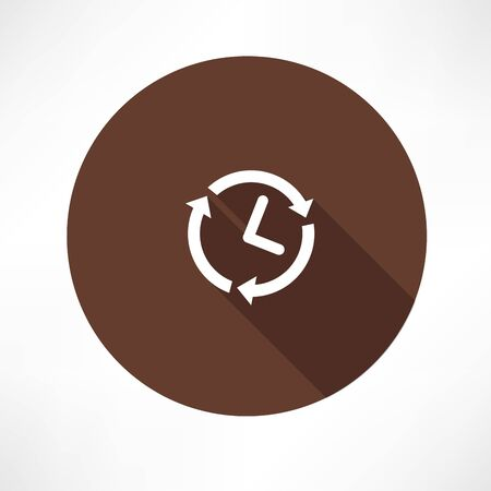 twenty four hours: 24 hours a day concept icon