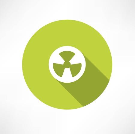 Radioactive icon 向量圖像