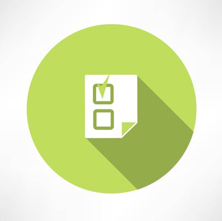 proceed: document with a check mark icon icon Illustration