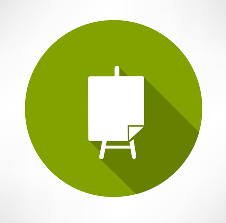 Poster stands icon Vectores