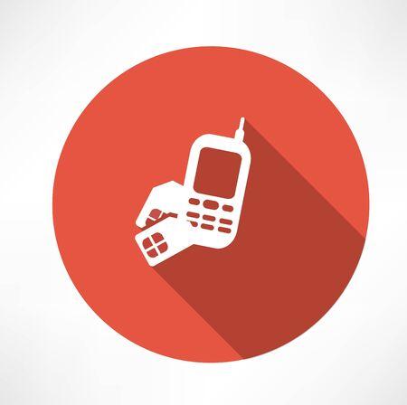 Handy mit SIM-Karten-Symbol Standard-Bild - 32471648