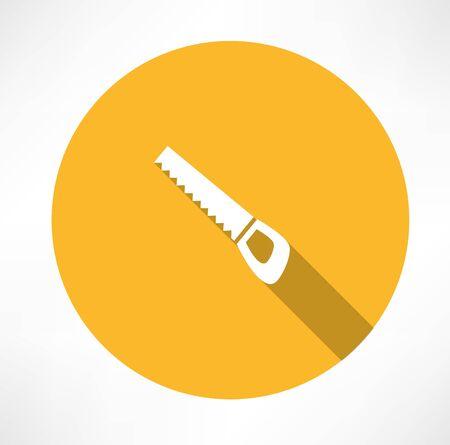 wood saw icon 向量圖像